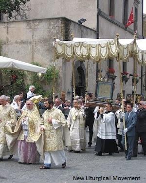 procesja Bożego Ciała z korporałem w Orvieto
