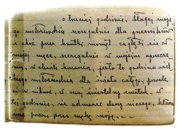 rękopis Dzienniczka