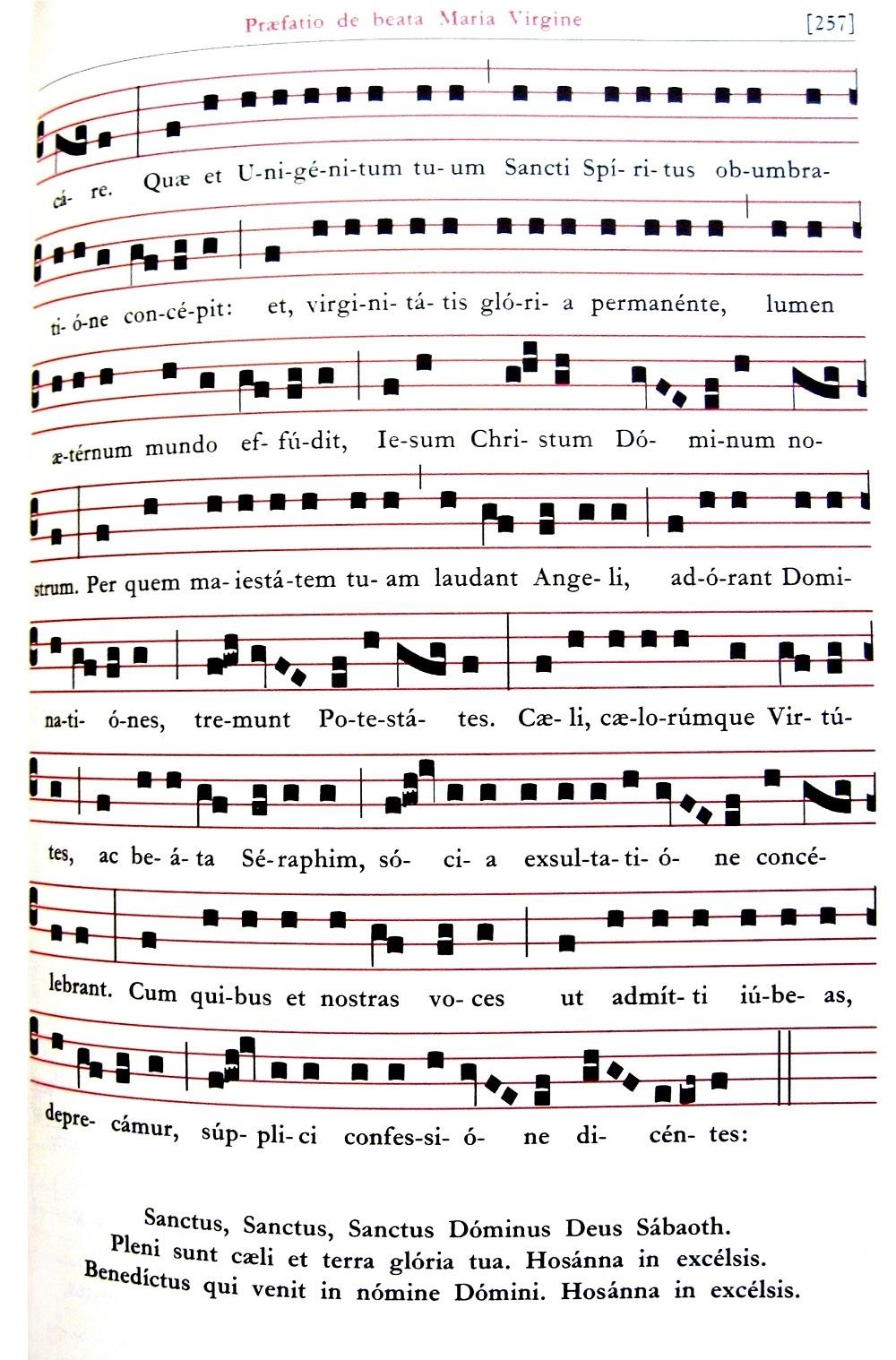 Praefatio de Beata Maria Virgine - Praefatio in tono solemniori