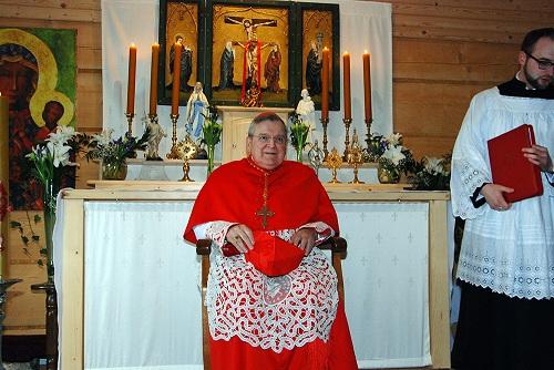 Kardynał Burke w Maximilianum