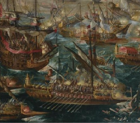Bitwa pod Lepanto (fragment),  Andries van Eertvelt