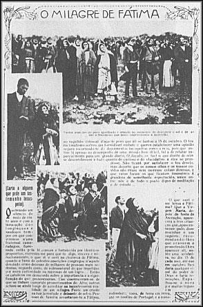artykuł w gazecie z 1917 r. o cudzie Słońca