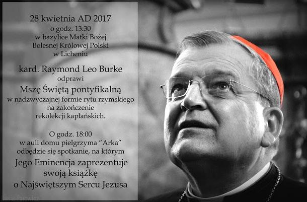 Msza święta pontyfikalna ks. kard. Raymonda Leo Burke'a
