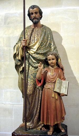 figura św. Józefa w Nazarecie