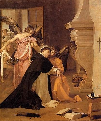 Kuszenie św. Tomasza z Akwinu - Diego Velázquez