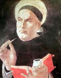 św. Tomasz z Akwinu, autor: Sandro Botticelli