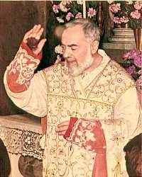 Ojciec Pio błogosławi