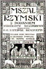 Mszał Rzymski z dodaniem Nabożeństw Nieszpornych Lefebvre 1931